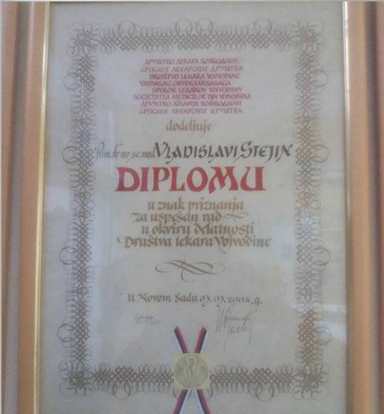 dr stejin diploma